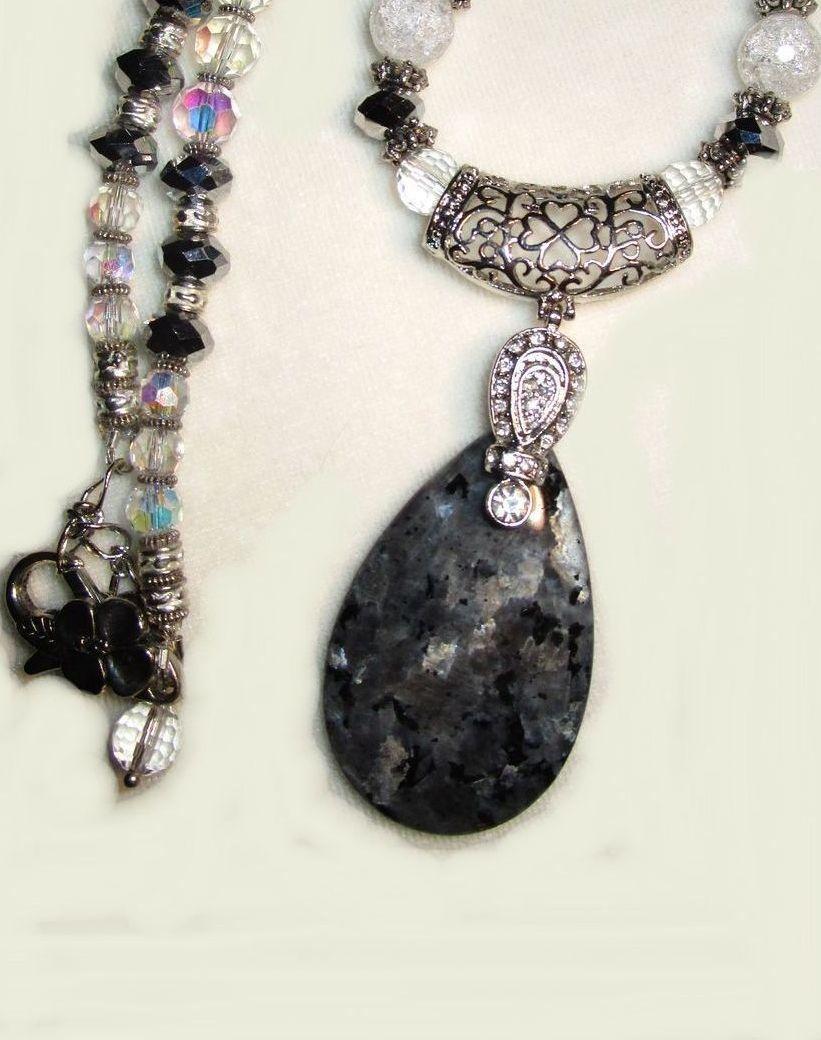 Labradorite & Crystal Necklace