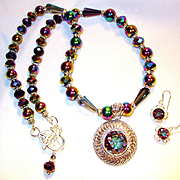 Mystic Topaz with Swarovski Crystal Necklace/Earring Set