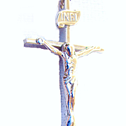 Sterling Silver Cross with Jesus/Sterling Chain