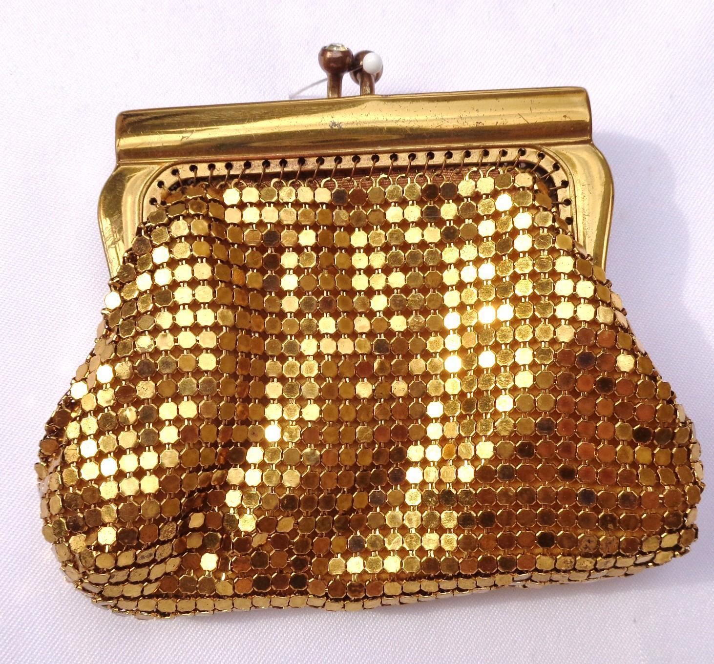 Vintage Gold Mesh Coin Purse