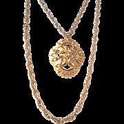 Vintage Trifari 2 layer Gold Tone Thick Chain