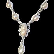 Biwa Pearl Necklace/Earring/Set