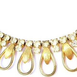 Vintage Goldtone/Rhinestone SARAH Coventry Necklace