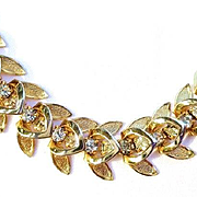 Vintage Goldtone/Rhinestone Necklace
