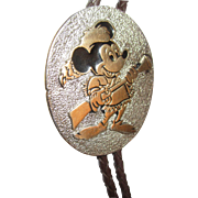 Mickey Mouse Braided Leather Lariat