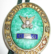 Vintage Coast Guard Lariat Necklace with Eagle