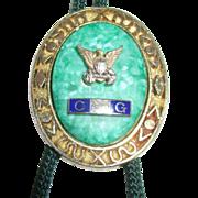 Vintage Coast Guard Lariat Necklace with Eagle