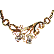 Vintage Trifari Goldtone Rhinestone Necklace