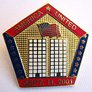 World Trade Center Memorial Pin with Flag