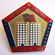 World Trade Center Memorial Pin with Flag