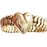 Bright Gold Plated Sweetheart Expansion Bracelet