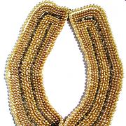 Vintage Ecru 14 Row Pearl Collar