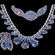Vintage Bright Baby Blue Rhinestone Bracelet
