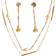 Two 14k Gold Chains/Earrings
