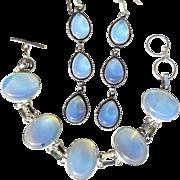 Opalite Bracelet and Earring Set