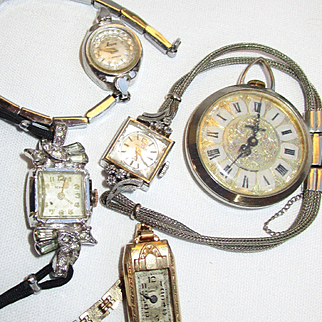 7 Vintage Time Pieces Watches/Parts
