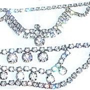 2 Vintage Rhinestone Necklaces