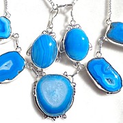 5 Druzy Agate Necklace/Matching Earrings