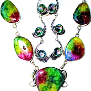 Colorful Agate Druzy Necklace