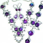 Dichroic Glass Necklace/Bracelet/Earring Set