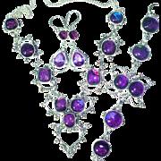 Dichroic Glass Necklace/Bracelet/Earring Set