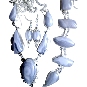 3 Piece Blue Lace Agate Set