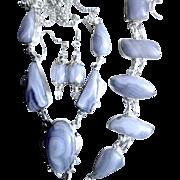3 Piece Blue Lace Agate Set