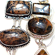 Dendritic Opal Necklace/Bracelet Set