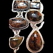 Dendritic Opal Necklace/Bracelet Set