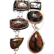 CLEARANCE; Dendritic Opal Necklace/Bracelet Set - Red Tag Sale Item