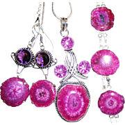 Fuchsia Solar Quartz 3-Piece Set