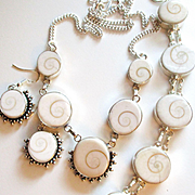 Natural Shiva Shell Necklace/Bracelet/Earring Set