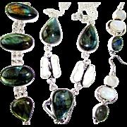 Labradorite/Biwa Pearl/Moonstone/Necklace/Bracelet and Earring Set