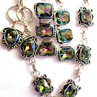 Mystic Topaz Bracelet/Earring Set