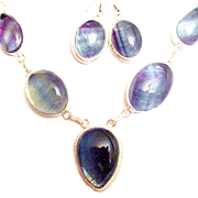 Fluorite Necklace/Earring Set