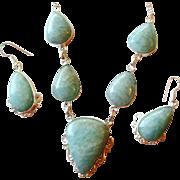 Amazonite Necklace/ Earring Set