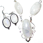 Rainbow Moonstone Necklace/Earring Set