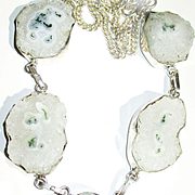 Moss Agate in Crystal Quartz/Solar Earrings