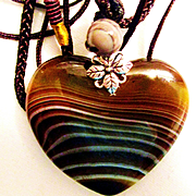 Striped Botswana Agate Necklace