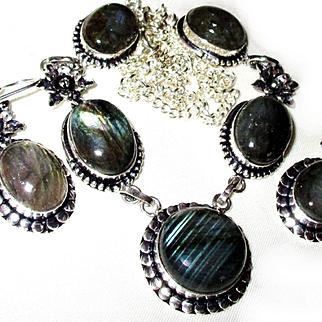 Labradorite Necklace/Earring Set