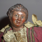 Early Neapolitan Creche Woman All Original Ex. Condition