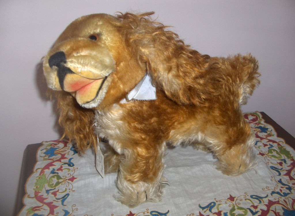 Vintage 12in. Steiff Dog  'Cockie'  c.1940s. Excellent Condition