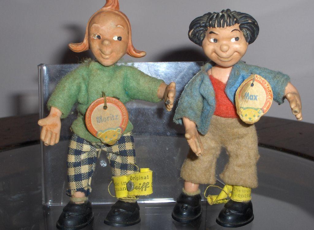 rare vintage steiff max moritz character dolls all. Black Bedroom Furniture Sets. Home Design Ideas