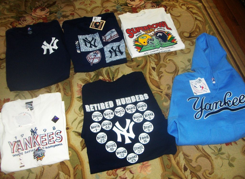 Genuine New York Yankees Brand New 98 World Series Tee, Hoodie, Retired Numbers Tee, More all for one price  WOW