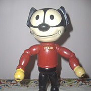 Rare Felix the Cat Wood Segmented Rubber Head c.1940s  Cameo Doll Co.