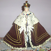 9in. King George Liberty of London Coronation Doll All Original Ex. Cond.