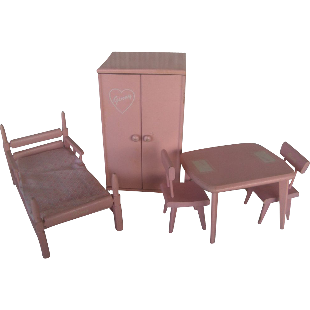 Vogue Ginny Pink Wooden Doll Furniture Set Very Good Condition From Paulasplace On Ruby Lane