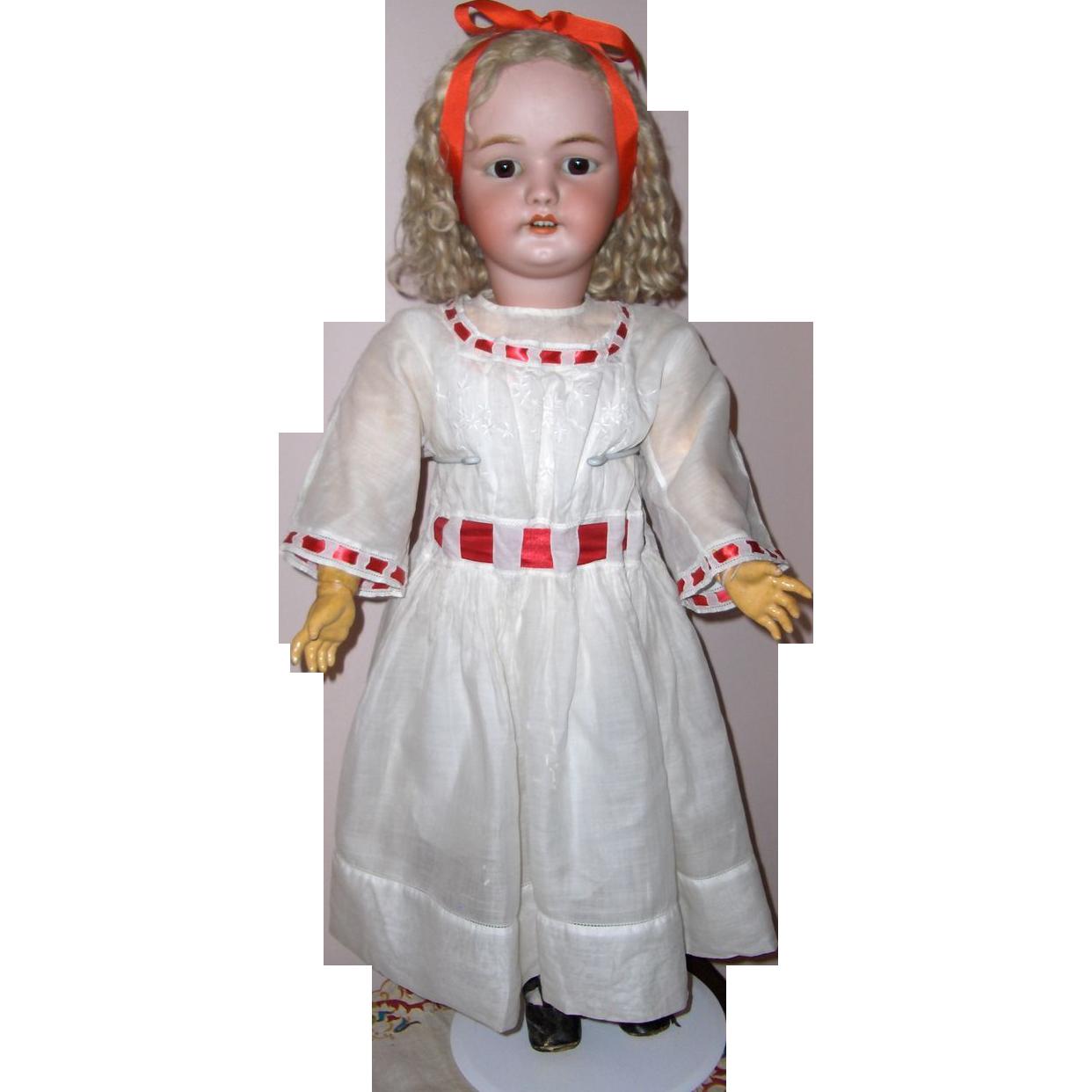 32in. Simon & Halbig #1079 German Bisque Antique Doll Fabulous Original Wig