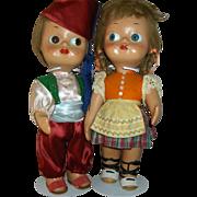 "Pair  14"" ""Dedo"" Googly  Dolls Made in Italy All Original Ex. Condition"