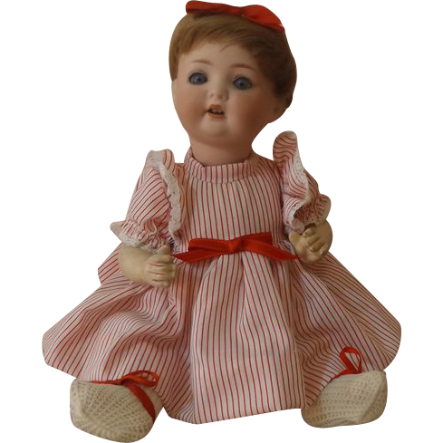 "German Bisque 12"" Character Baby PM 23 Germany  Adorable"